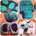 Skull cakes with jambrains!