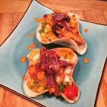 Fish Tacos with Mango salsa & bacon!