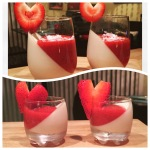 Rum Strawberries & Coconut Cream Panna Cotta!