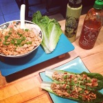 Lean Turkey Lettuce Wraps…with holy greensauce!