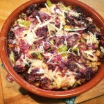 Sausage & Purple Cabbage Strata!